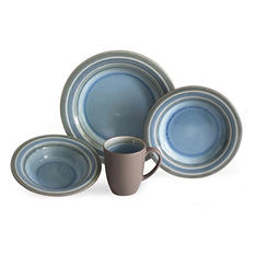 Baum 32-Piece Shades of Blue Dinnerware Set