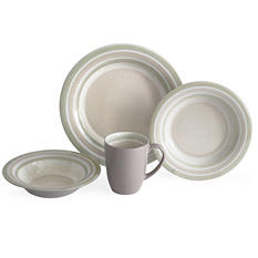 Baum 32-Piece Shades of Latte Dinnerware Set