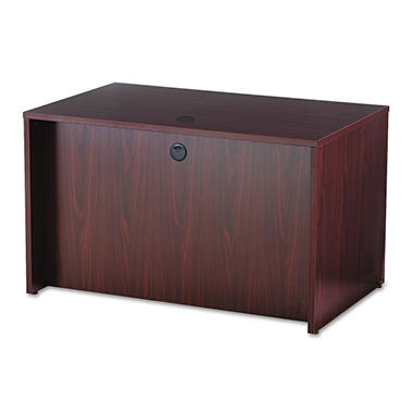 basyx by HON - BL Laminate Series Rectangular Desk Shell - Mahogany