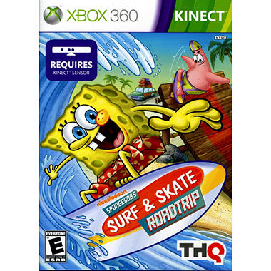 Spongbob's Surf and Skate Roadtrip - Xbox 360 Kinect