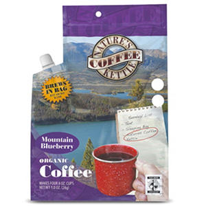 Nature's Coffee Kettle Mountain Blueberry Organic Coffee (1.2 oz. pouch, 12 pk.)