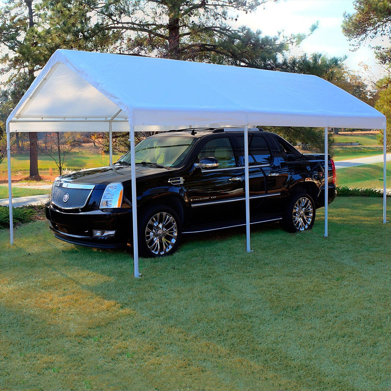 Plastic Carport Canopies : Replacement canopy white  carport cover tent