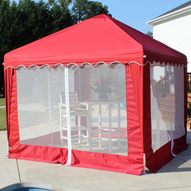 Garden Party Gazebo - Red - 10' x 10'