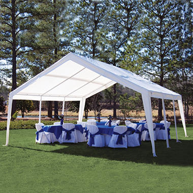 King Canopy 2-in-1 Canopy - Expandable from 12' x 20' to 20' x 20'