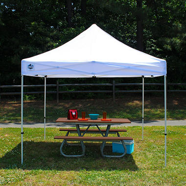 King Canopy™ Festival 10' x 10' White Instant Pop-Up Shelter