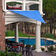 King Canopy 10' × 10' Triangular Sun Shade Sail - Blue