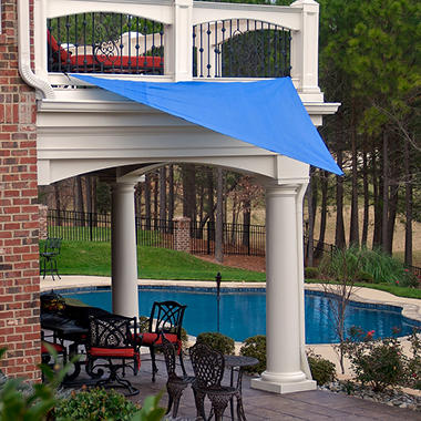King Canopy 10' � 10' Triangular Sun Shade Sail - Blue