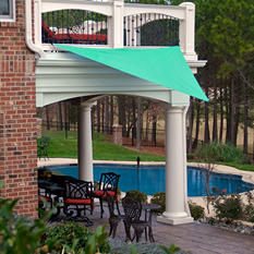 King Canopy Sun Triangular Sun Shade Sail - 10' × 10'
