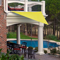 King Canopy Triangular Sun Shade Sail  - 10' x 10'