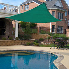 King Canopy Triangular Sun Shade Sail - Green - 16' x 16'