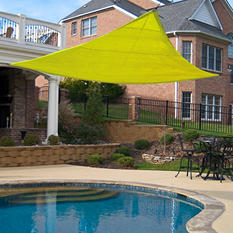 King Canopy Triangular Sun Shade Sail - Yellow - 16' x 16'
