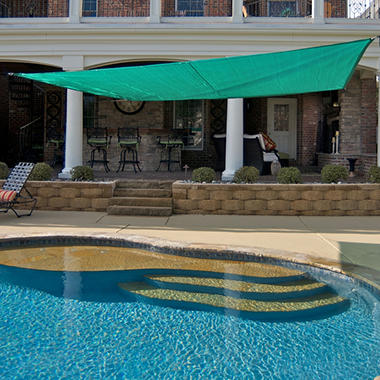 King Canopy Quadrilateral Sun Shade Sail - 16' x 16'