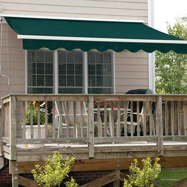 Retractable Awning w/Motorized Crank - 16' x 10'