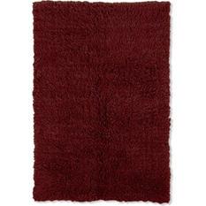 Flokati New Shag Rug, Burgundy (Assorted Sizes)