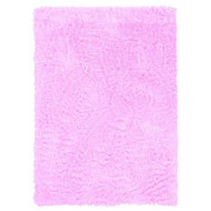 Faux Sheepskin Rug, Pink (Assorted Sizes)