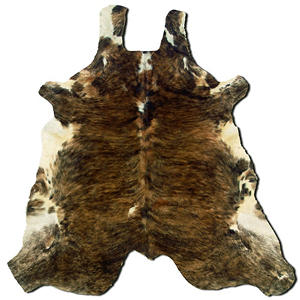Natural Cowhide Rug, Medium Brindle