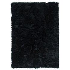 Faux Sheepskin Rug, Black  (Assorted Sizes)