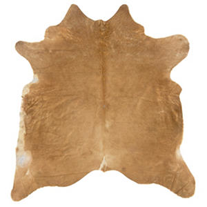 Natural Cowhide Rug, Beige