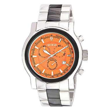 Croton Men's Stainless Steel and Swiss Quartz Chronograph Watch - Orange