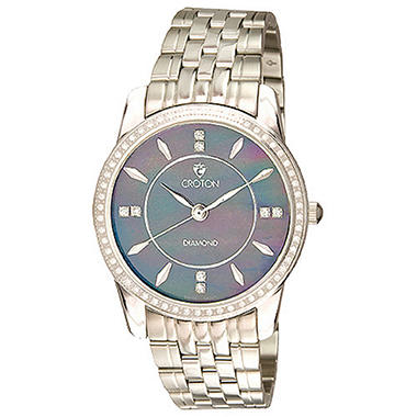 Croton Men's .50 ct. t.w. Diamond Stainless Steel Watch