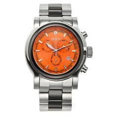 Croton Men's Swiss Quartz Stainless Steel & Ceramic Millennium Chronograph Watch