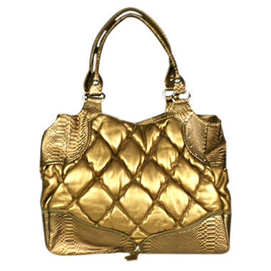 Simply Nina by Nina Raye Genuine Quilted Lambskin Leather Handbag