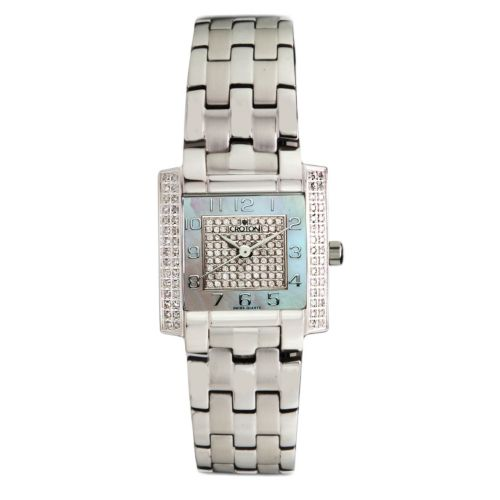 "Croton Ladies Swiss Quartz ""Ballroom"" Watch with Diamond & Mother of Pearl Dial & Diamond Case"