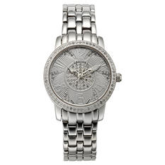 Croton's Ladies Swiss Quartz Ballroom Watch with Patterned Dial