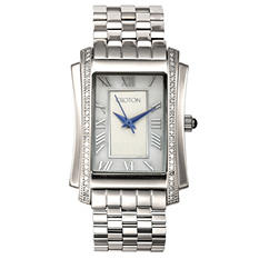 Croton's Ladies Silvertone Swiss Quartz Ballroom Watch
