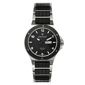 Croton Men's Black Ceramic & Stainless Millennium Watch