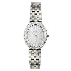 Croton Ladies Silvertone Swiss Quartz Ballroom Watch