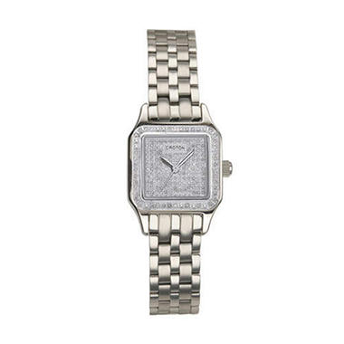 Croton Pavé Diamond Square Lady's Watch