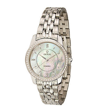Croton Ladies' 0.33 ct. t.w. Diamond Stainless Steel Watch