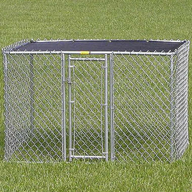 Dog Kennel w/Shade Cover - 4'W x 6'L x 4'H