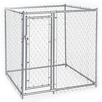 Lucky Dog Galvanized Chain Link w/ PC Frame, Kit in a Box - 5'L x 5'W x 4'H