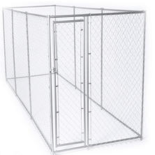 Lucky Dog Galvanized Chain Link w/ PC Frame, Kit in a Box - 15'L x 5'W x 6'H or 10'L x 10'W x 6'H
