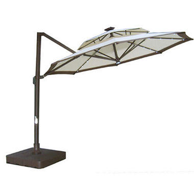 Freedom™ Butterfly Offset Solar Umbrella - 11 ft.