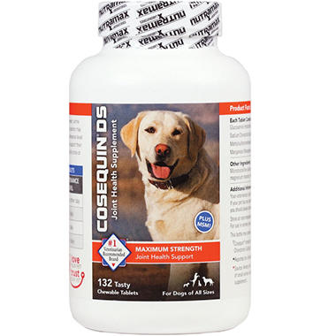 Cosequin DS Plus MSM Joint Health Supplement for Dogs - 132 Chewable ...