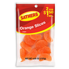 Sathers Orange Slices (4.85 oz. bag, 12 ct.)