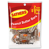 Sathers Peanut Butter Bars (1.75 oz. bag, 12 ct.)
