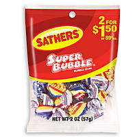 Sathers Super Bubble - 2.0 oz. Bag - 12 ct.
