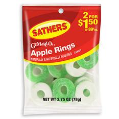 Sathers Gummi Apple Rings (2.75 oz. bag, 12 ct.)