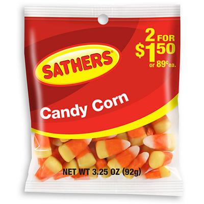 Sathers Candy Corn - 3.0 oz. Bag - 12 ct.