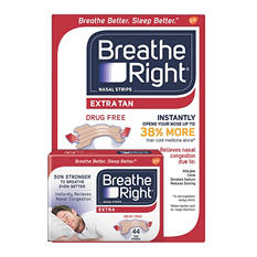Breathe Right Extra Strength Nasal Strips, Tan (44 ct.)