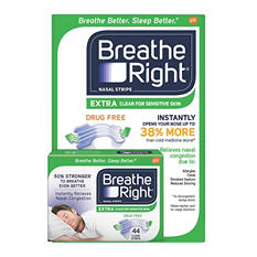 Breathe Right Nasal Strips, Extra Clear (44 ct.)