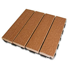 LifeCycle/EcoDek Floor Tile - Redwood - 10 pk.