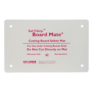 "San Jamar Saf-T-Grip Cutting Board-Mate Anti-Slip Mat - 13""D x 18""W - White"