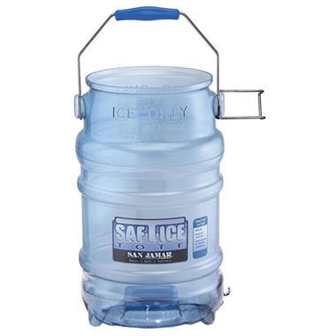 San Jamar Saf-T-Ice Tote - 6 gal. - Blue