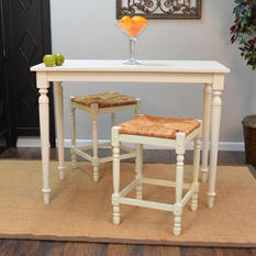 Freeport Table and 2 Stools Bar Set (Various Colors)