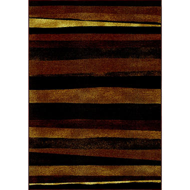 "Hudson Striped Area Rug - 4'11"" x 7' - Chocolate"